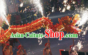 Flame Chinese Customs Best Dragon Mascot Dance Costumes Complete Set