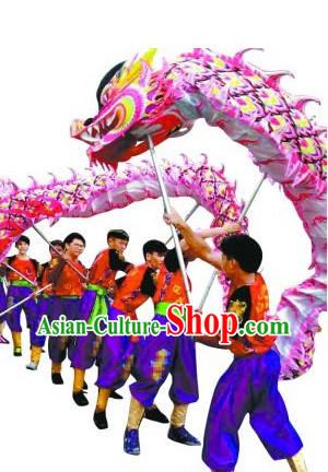 Luminous Chinese Dragon Dance Costume for 10 People