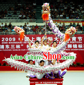 Three Dragon Heads Dancing Costumes Complete Set