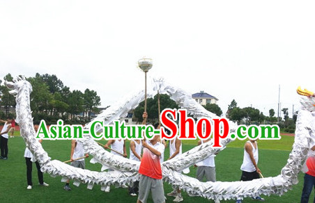 White Dragon Dance Costume for 10 People