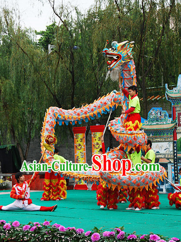 10 Meters China New Year Dragon Dance Costume for 6 People
