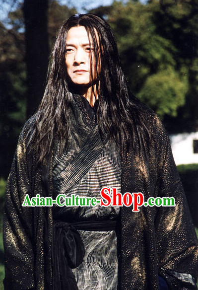 Ancient Chinese Black Knight Clothing Complete Set for Men
