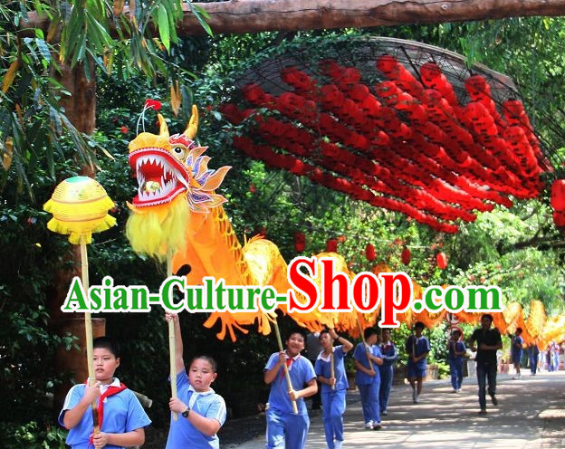 Parade and Competition Dragon Dance National Costumes Complete Set for Ten Kids