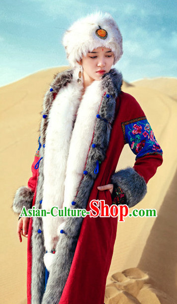 Mongolian Princess Oriental Clothing and Headpieces for Women