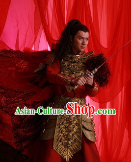 Lanling Emperor Armor Costume and Cape Complete Set for Men