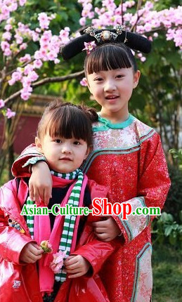 Chinese New Year Qing Dynasty Oriental Clothes for Kids