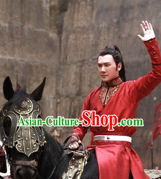Lanling Wang Red General Clothes for Men