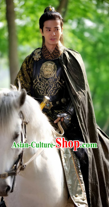 Lanling Wang Ancient Chinese General Costume Complete Set for Men