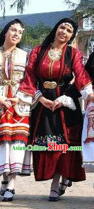 Traditional Womens Greek Dance Costumes Complete Set