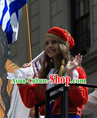 Traditional Greek Girl Costumes Complete Set