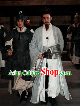 Traditional Chinese Three Legend Zhuge Liang Costume Complete Set