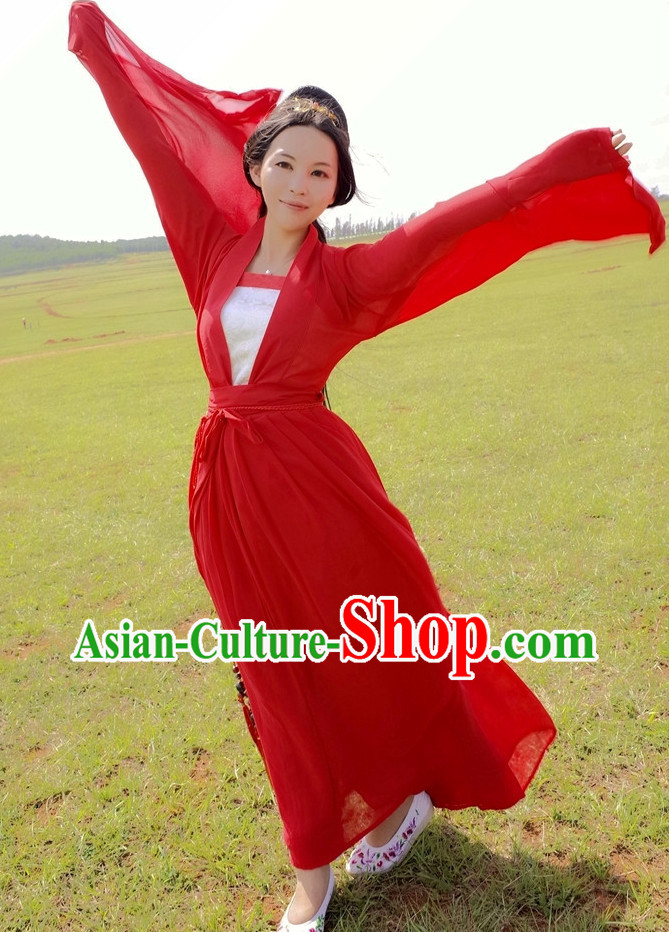 Red Asian Dress for Women