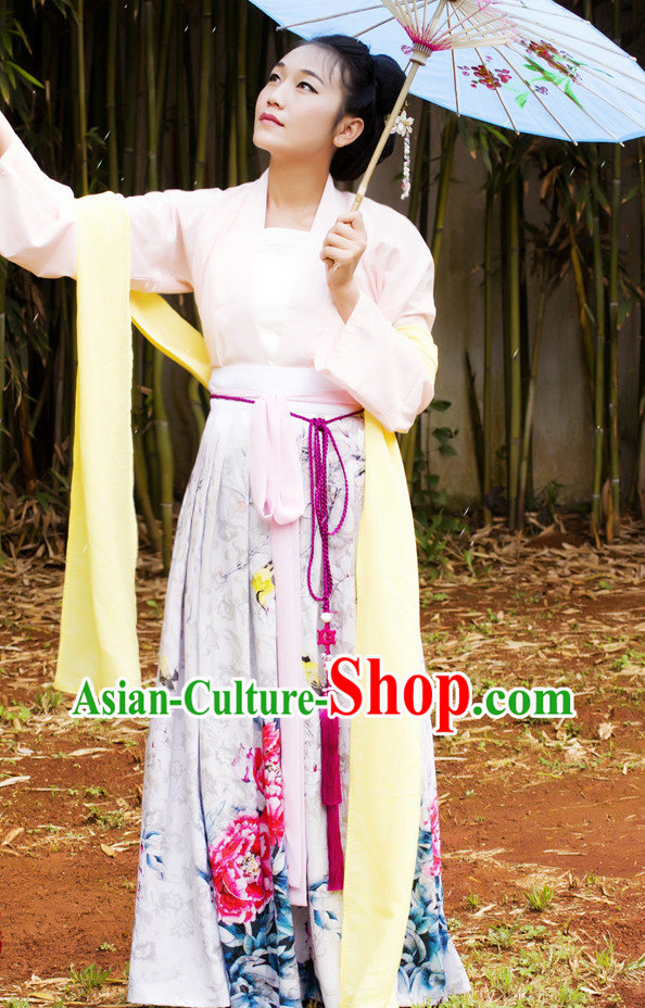 Asian Dress Costumes Complete Set for Girls