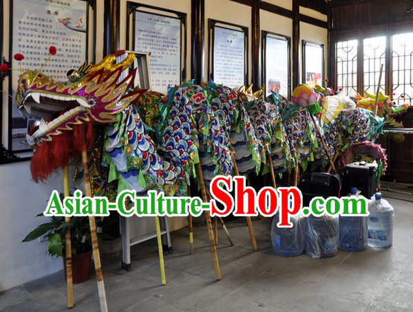 Shanghai Competition and Performance Dragon Dance Equipments Complete Set