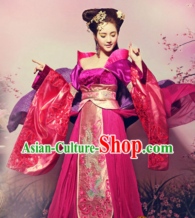 Chinese Princess Costume and Hair Accessories Complete Set for Women