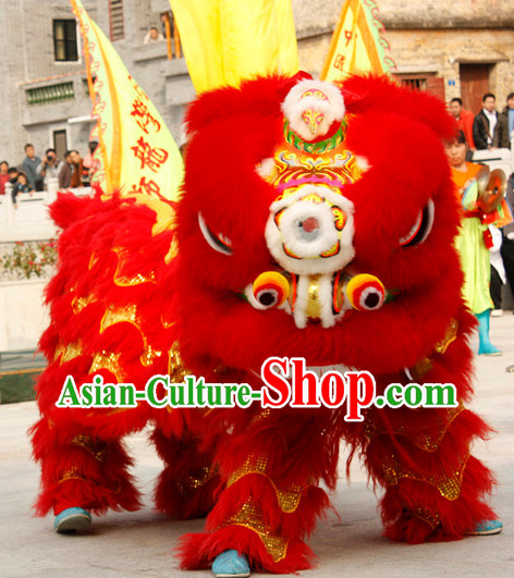 Chinese Lion Mask Dance Equipment Complete Set