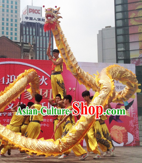 Gold Dragon Mascot Costume Complete Set