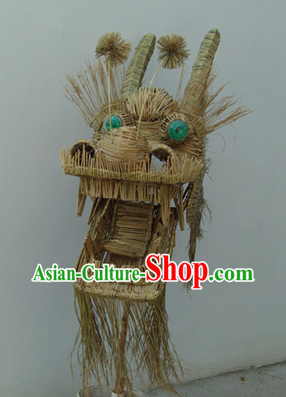 Handmade Grass Dragon Mascot Dance Costumes Complete Set