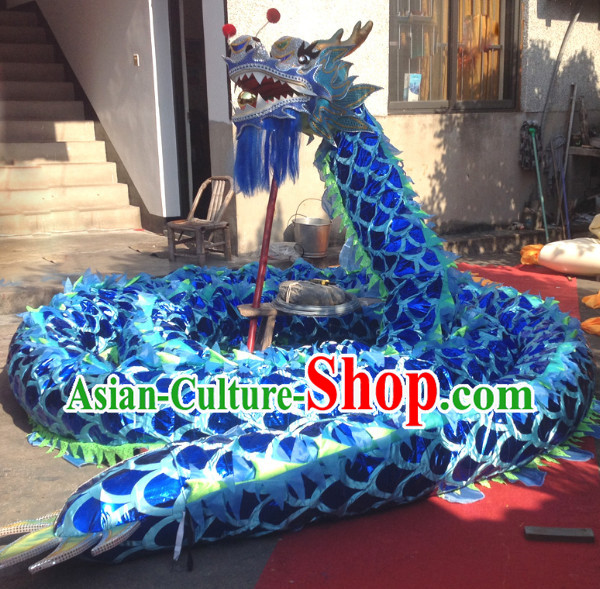 Blue Dragon Mascot Dance Costumes Complete Set