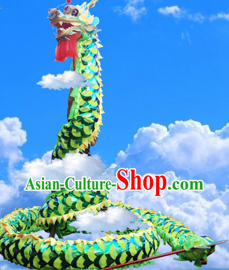 Green Dragon Dance Costumes Complete Set