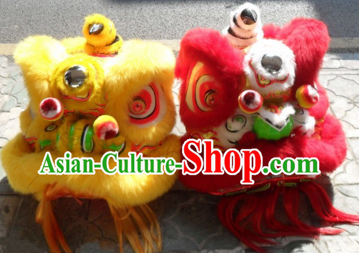 Asian New Year Martial Lion Costumes 2 Sets