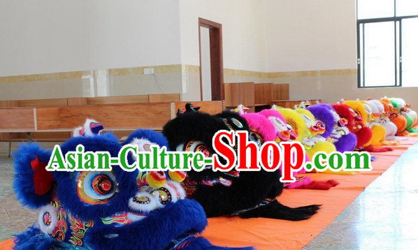 Asian New Year Martial Lion Costumes