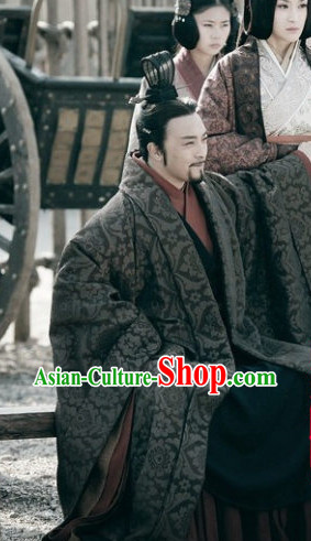 China Ancient King Costumes and Hat