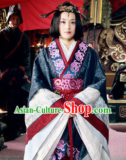 China Ancient Princess Han Fu Dresses and Hair Accessories
