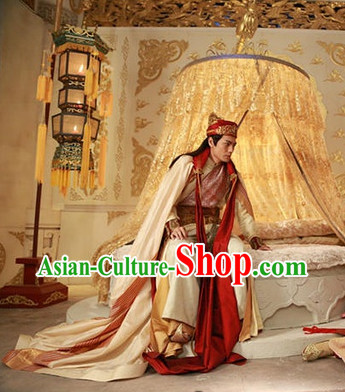 Chinese Classical Wedding Bridegroom Outfit and Hat