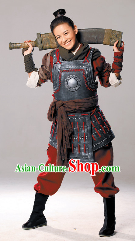 Ancient Chinese General Female Armor Costumes Complete Set