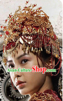 Ancient Chinese Wedding Phoenix Crowns for Brides