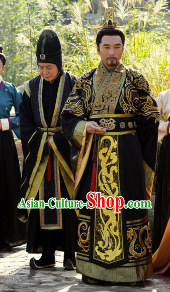 China Traditional Grey Hanfu Outfit for Men