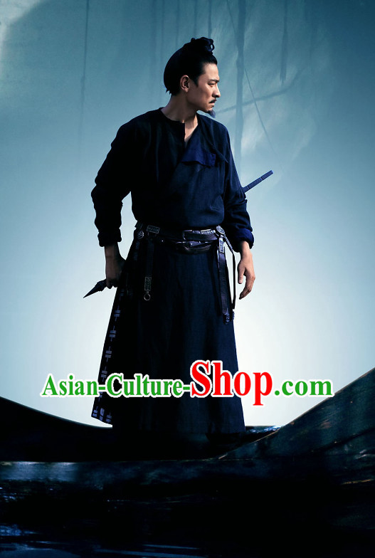 Chinese Black Knight Uniform for Men