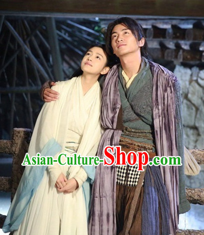Chinese Shen Diao Xia Lv Return of the Condor Heroes Yang Guo Costumes for Men