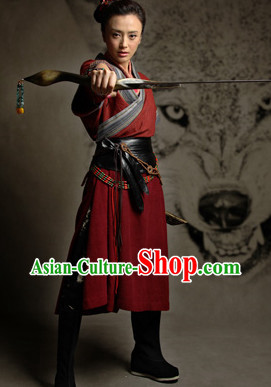 Chinese Swordwoman Fan Lihua Heroine Costume Complete Set