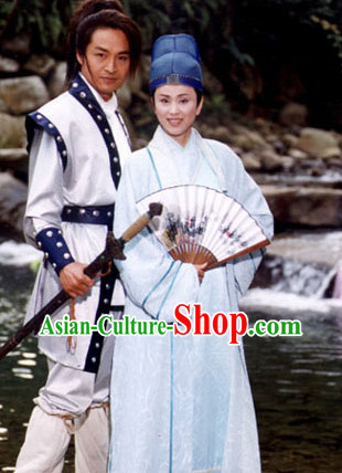 Ancient Swordsman White Costumes