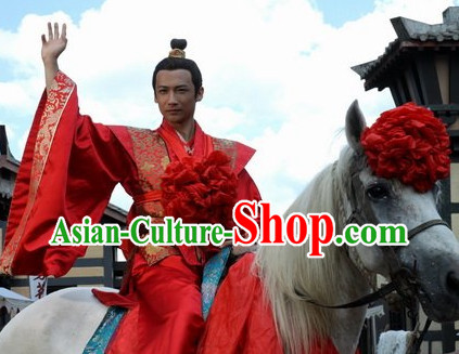 Ancient Chinese Bridegroom Dresses for Men