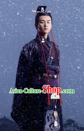 Ancient Chinese Prince Clothing and Coronet for Men
