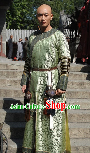 Qing Dynasty Nobleman Clothing Robe for Men