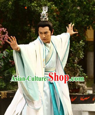 Chinese Infanta Dramaturgic Gowns and Coronet for Men