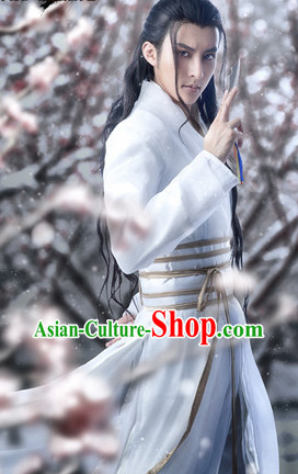Ancient Chinese Swordsmen Adult Costumes Free Shipping