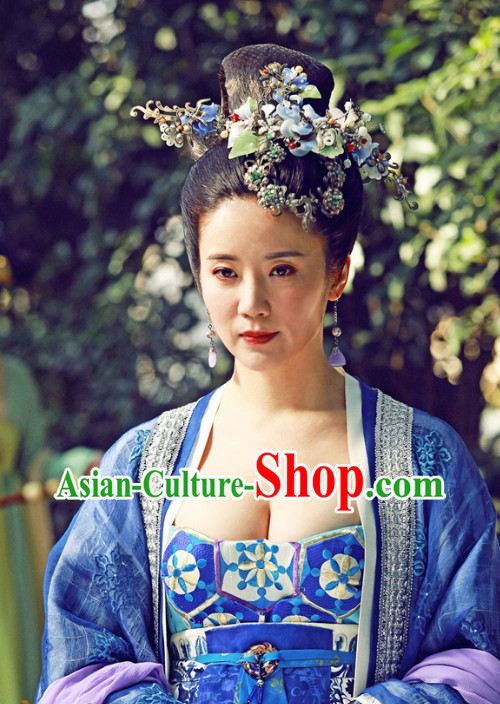 Chinese Palace Empress Wig and Hair Accessory Set