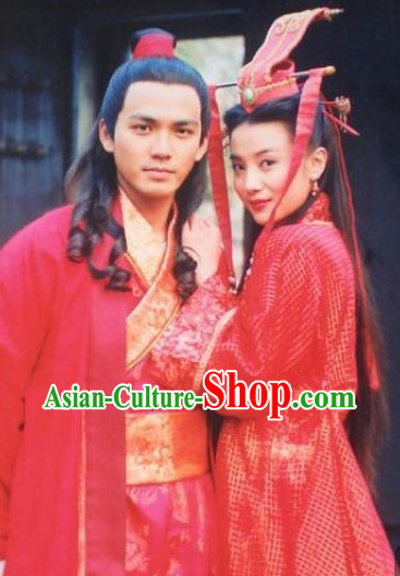 China Romantic Wedding Clothing Film Costume 2 Complete Sets