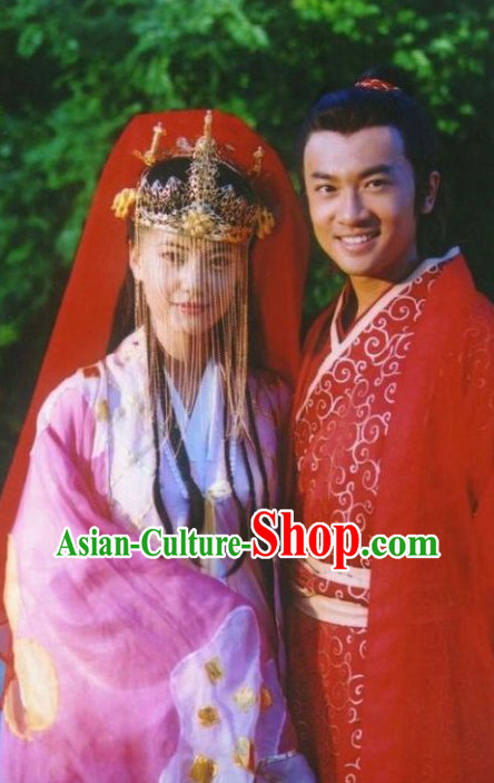 China Classical Red Wedding Dress 2 Complete Sets