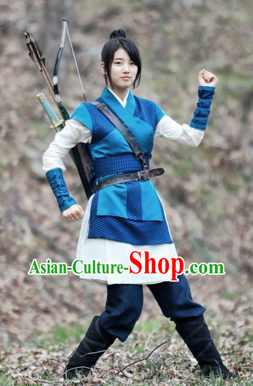 Ancient South Korean Swordswoman Costumes