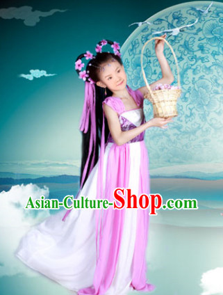 Ancient Chinese Fairy Costume for Little Girls