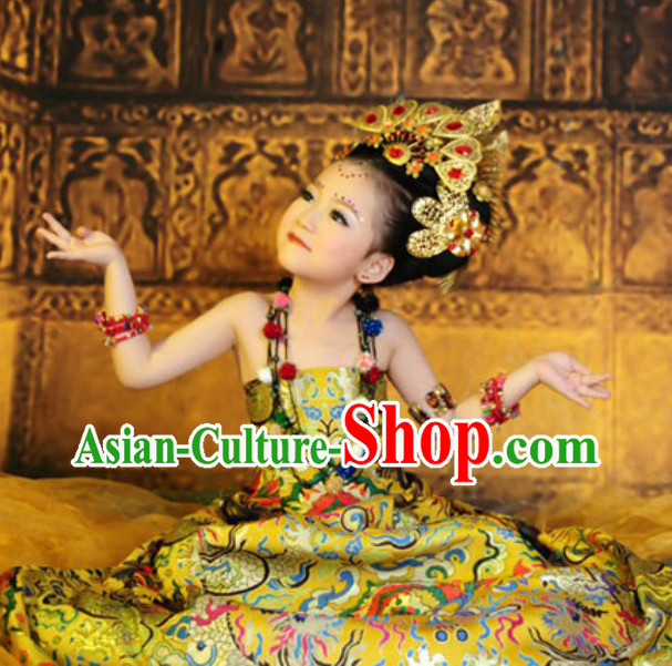 Ancient Chinese Ethnic Costumes for Kids
