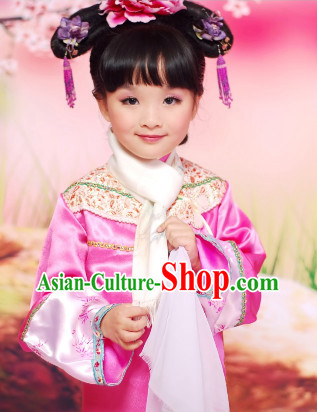 Chinese Qing Princess Costumes for Kids