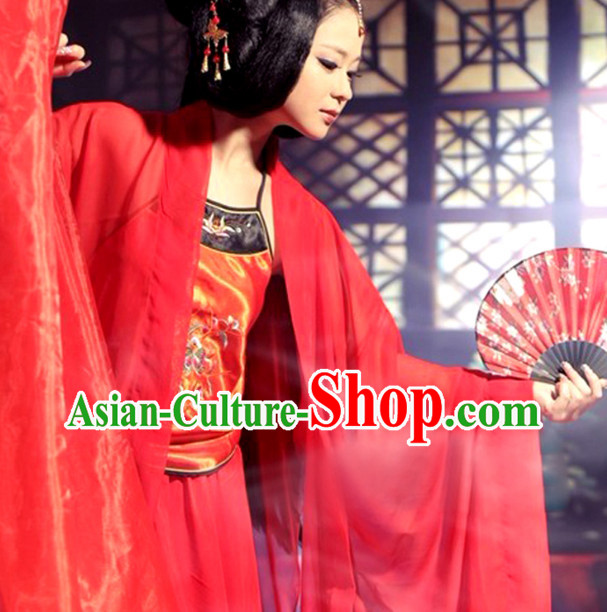 Chinese Red Sexy Beauty Costumes Complete Set