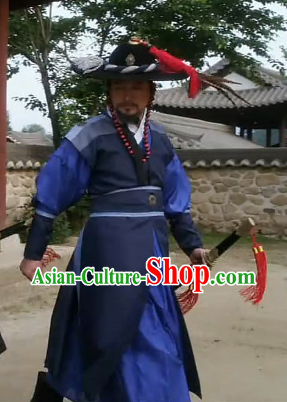 Traditional Korean Bodyguard Film Costumes for Men